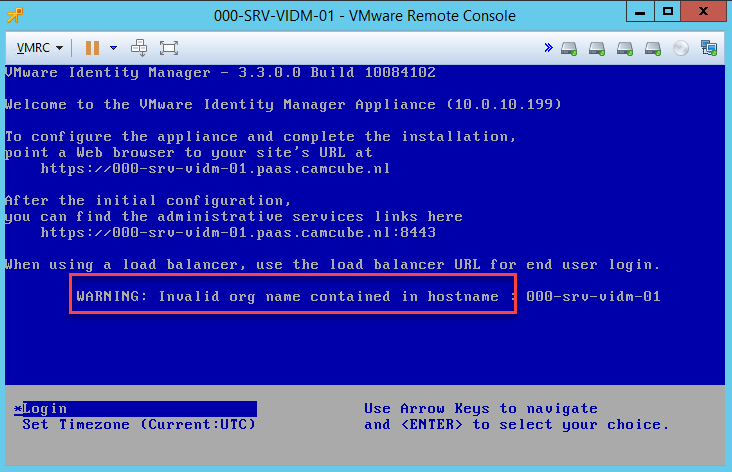 Some notes on the -hostname- field, when installing #vIDM with #vRSLCM