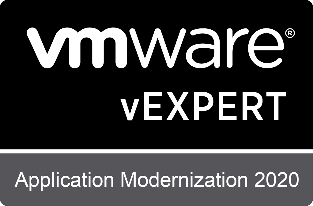 VMware vExpert sub-program: Application Modernization 2020