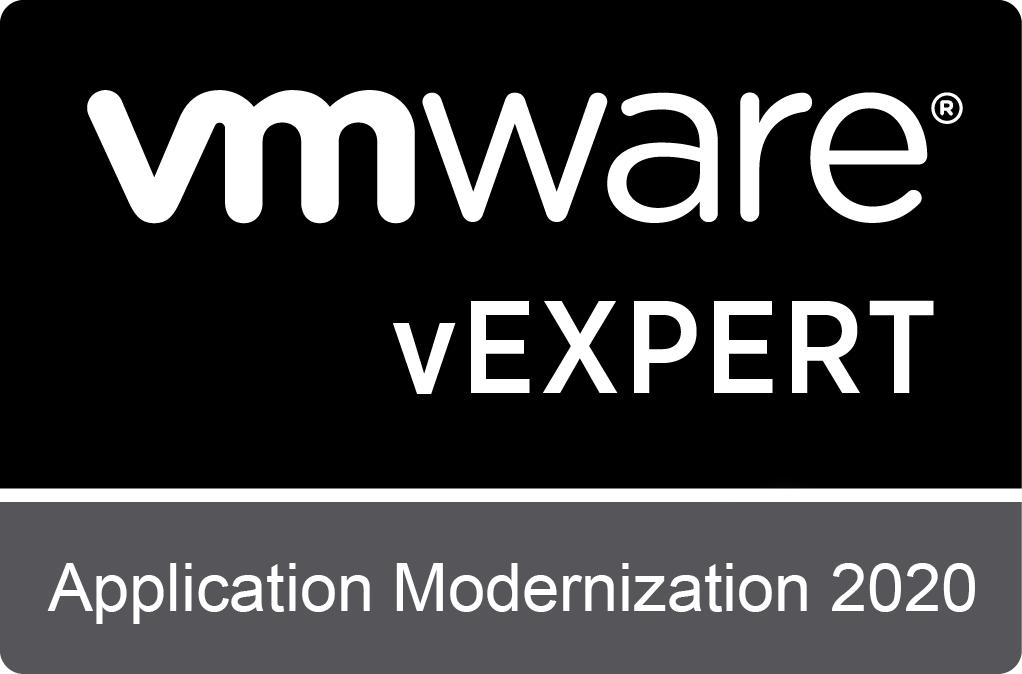 VMware vExpert sub-program: Application Modernization 2020